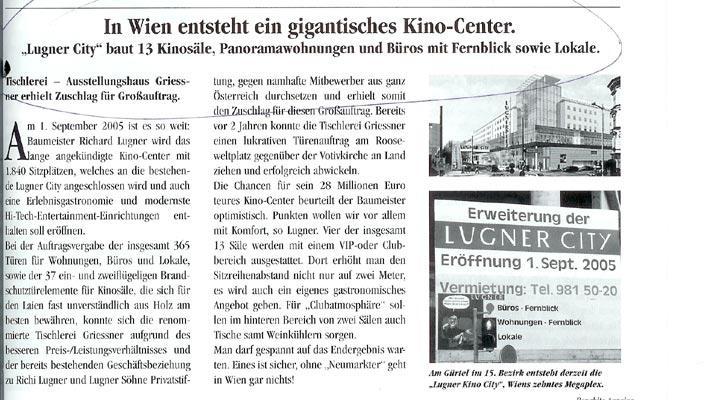 In Wien entsteht ein gigantisches Kino-Center