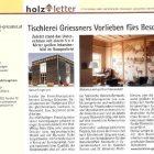 Tischlerei Griessners Vorliebe fürs Besondere