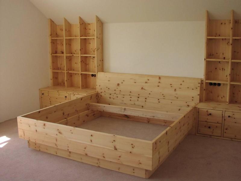 zirbenholz schlafzimmer tischlerei ausstellungshaus griessner. Black Bedroom Furniture Sets. Home Design Ideas