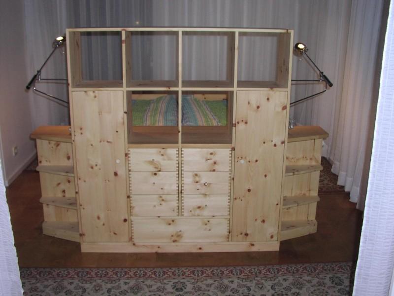 Raumteiler Zirbenholz