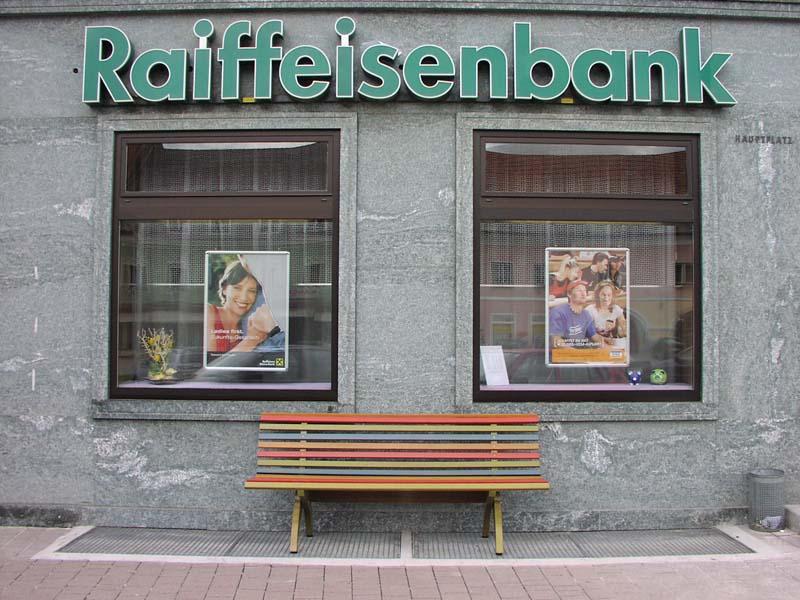 Steirische Holzstraßenbank